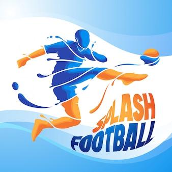 Kick splash fußball fußball
