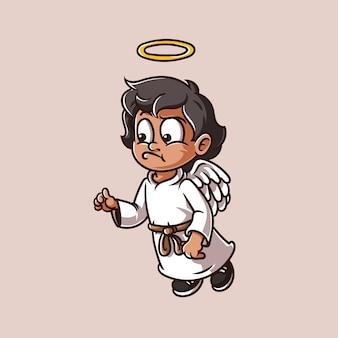 Kid angel illustration