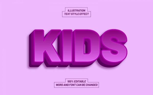 Kid bold text style effekt