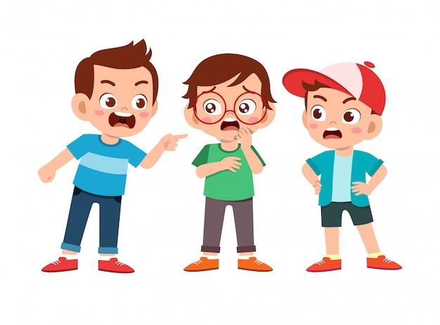 Kid bully freund schlechtes benehmen