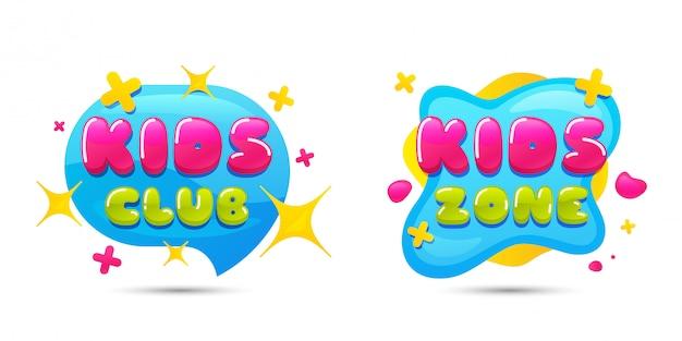 Kids club sprechblase