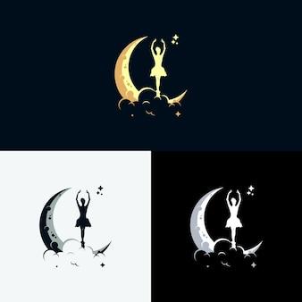 Kids dream logo mit mondsymbol