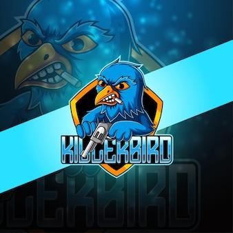 Killer bird esport maskottchen logo