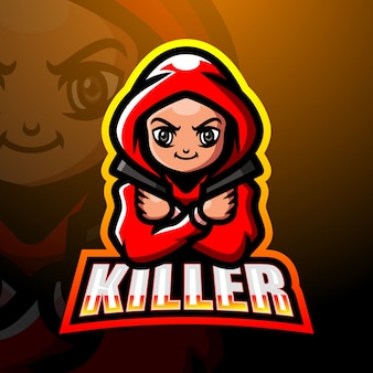 Killer maskottchen esport illustration