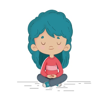 Kind, das ruhig meditiert