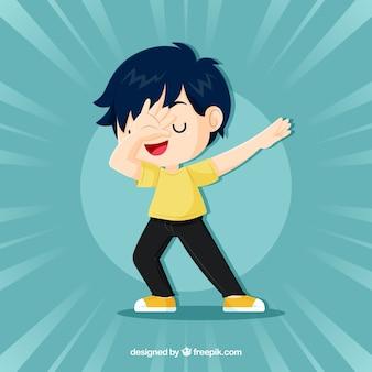 Kind, das tupfbewegung tut