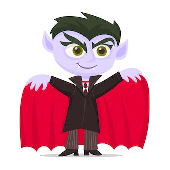 Kind, gekleidet wie ein vampir