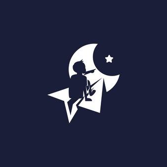 Kind mit papierflieger-logo-design-inspiration