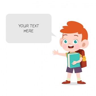Kind mit seifenblasen-chat