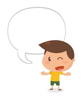 Kind spricht.