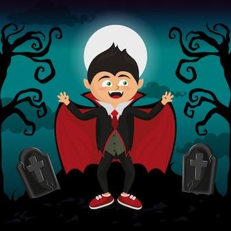 Kind und halloween