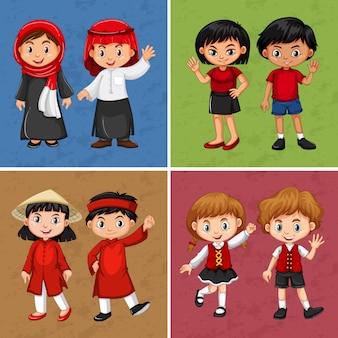 Kinder aus verschiedenen ländern