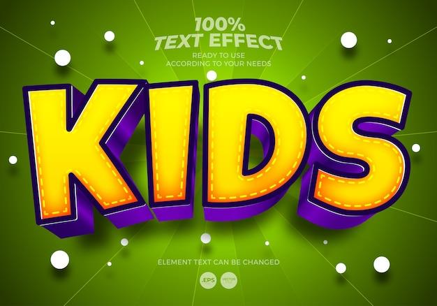 Kinder bearbeitbarer texteffekt