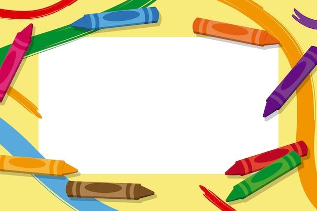 Kinder bilderrahmen mit buntstiften