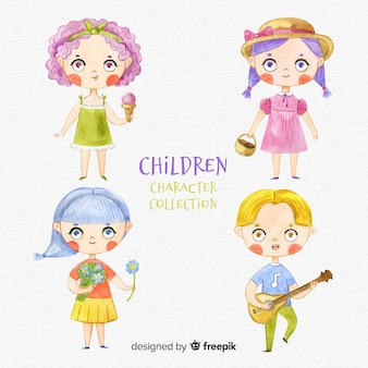 Kinder-charaktersammlung