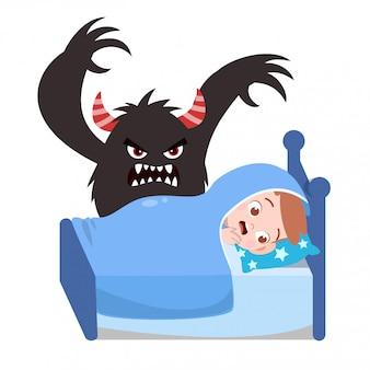 Kinder, die schlechten traum haben