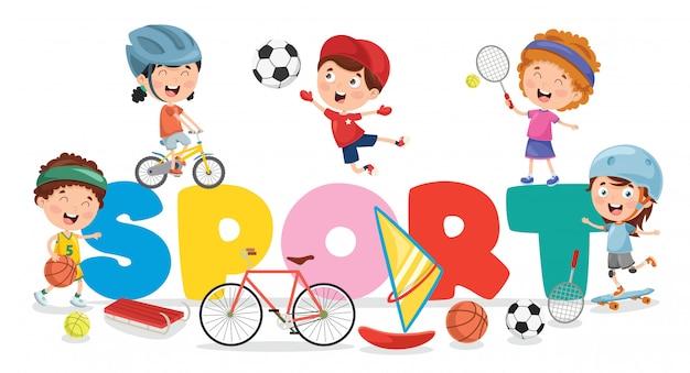 Kinder, die sport machen
