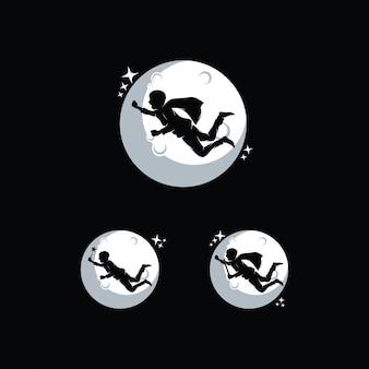 Kinder erreichen traum logo designs vorlage