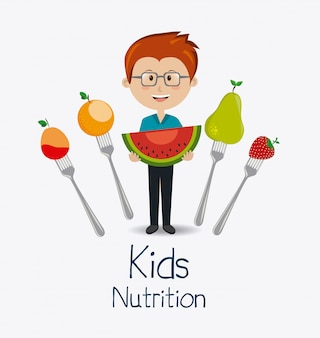 Kinder essen design.