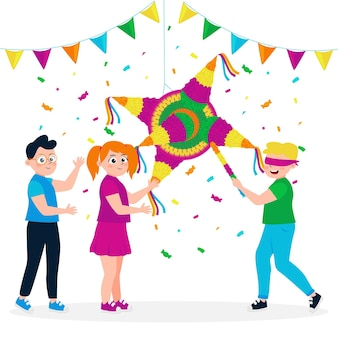 Kinder feiern posada