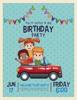 Kinder geburtstag einladungskarte