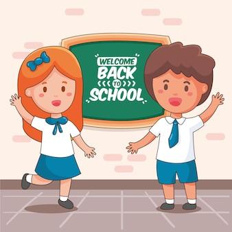 Kinder gehen wieder zur schule