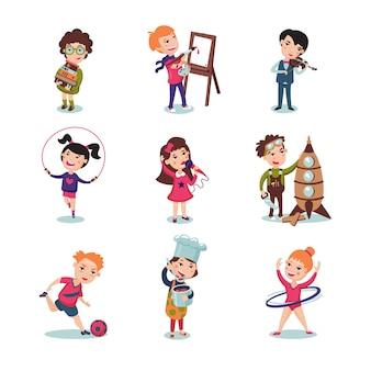 Kinder hobbys set