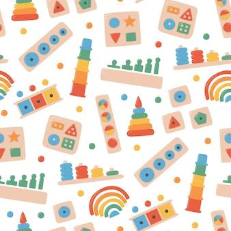Kinder holzspielzeug für montessori-spiele. bildungslogik spielzeug für kinder im vorschulalter.