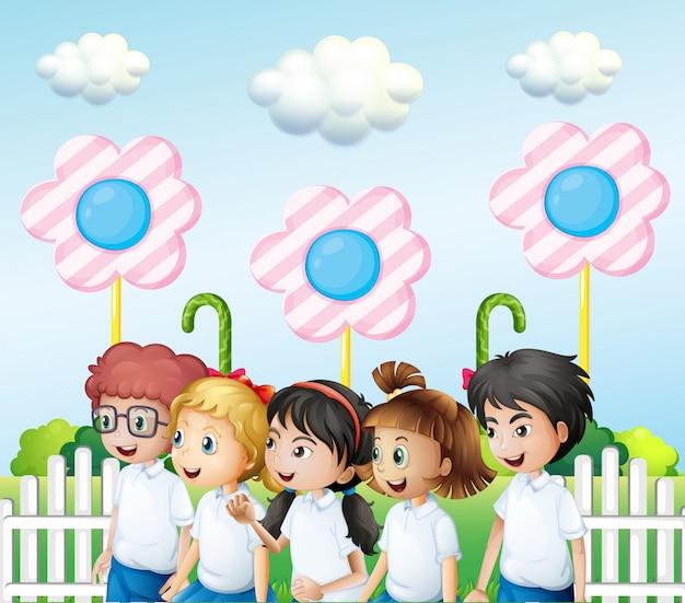 Kinder im garten