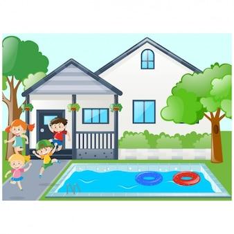 kinder schwimmen vektoren fotos und psd dateien kostenloser download. Black Bedroom Furniture Sets. Home Design Ideas