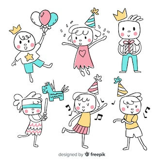 Kinder in der Geburtstags-Sammlung