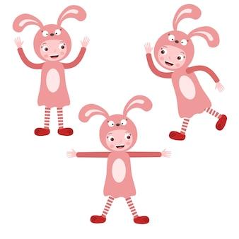 Kinder Kaninchen Kostüm