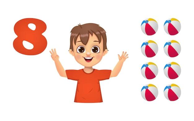 Kinder lernen das zählen von zahlen mit den fingern