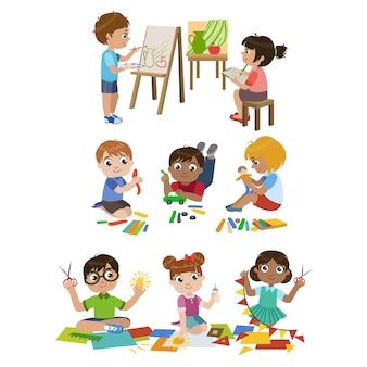 Kinder lernen handwerk