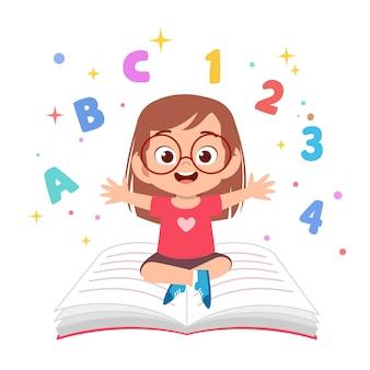 Kinder lernen, illustrationen zu lesen