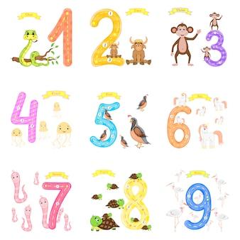 Kinder lernen zu zählen und zu schreiben