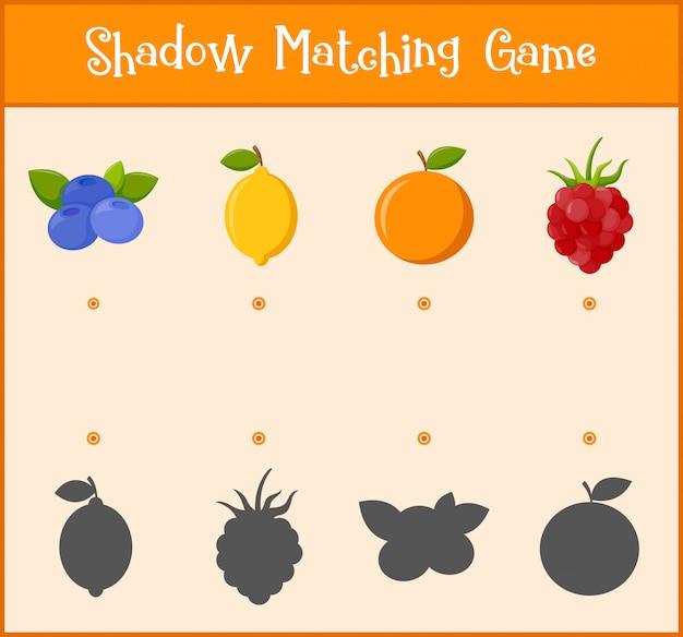 Kinder lernspiel, schatten matching-spiel