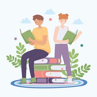 Kinder lesen ein buch