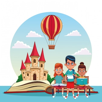 Kinder lesen märchen