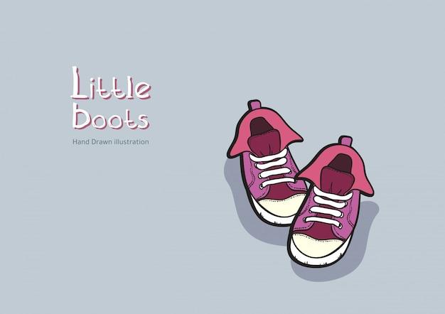 Kinder lila stiefel