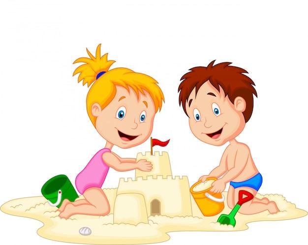 Kinder machen sandburg
