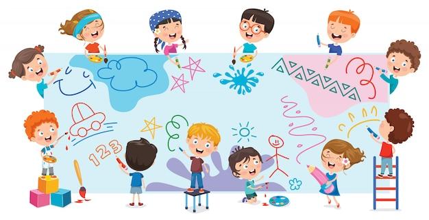 Kinder malen banner