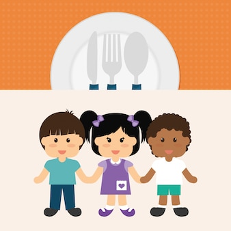 Kinder menü design