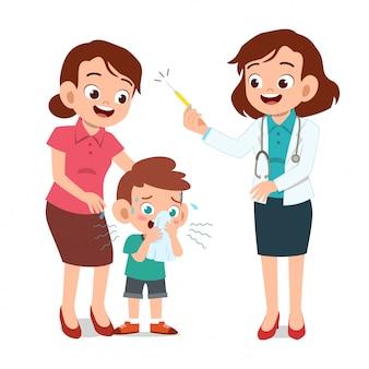 Kinder mit ärztlicher untersuchung