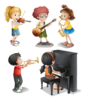 Kinder mit musikalischen talenten