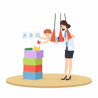 Kinder mit neurologischen entwicklungsstörungen wie die aufmerksamkeitsdefizit-hyperaktivitätsstörung