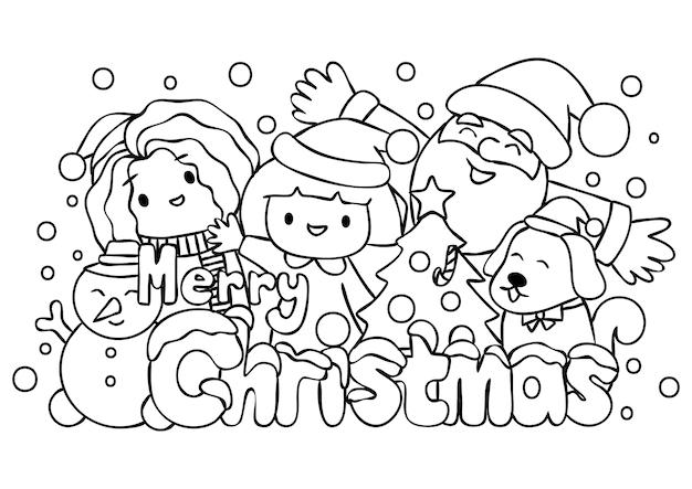 Kinder mit weihnachtsmann