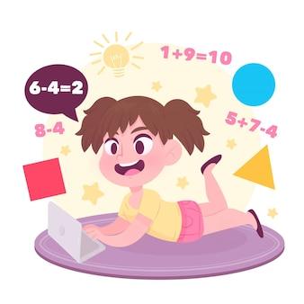 Kinder online-unterrichtskonzept
