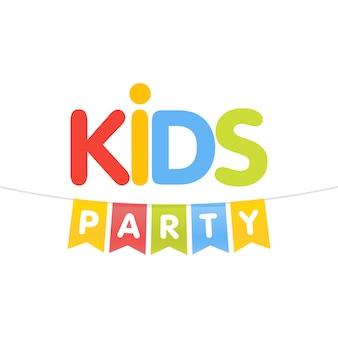 Kinder party brief flaggen