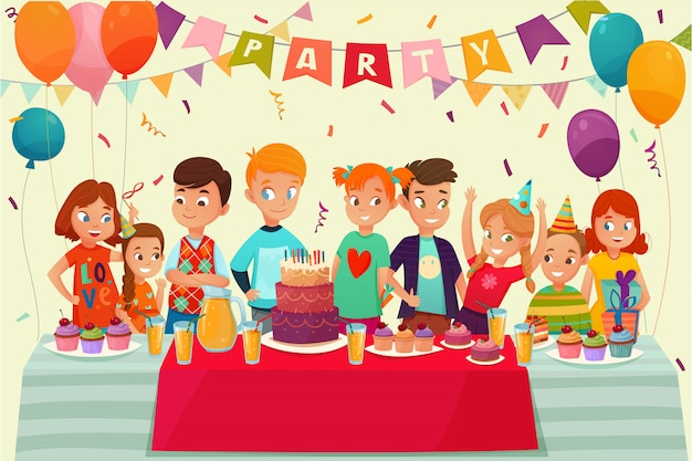 Kinder party poster